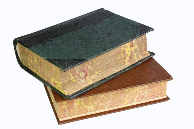 Dos libros viejos fotografía de archivo libre de regalías