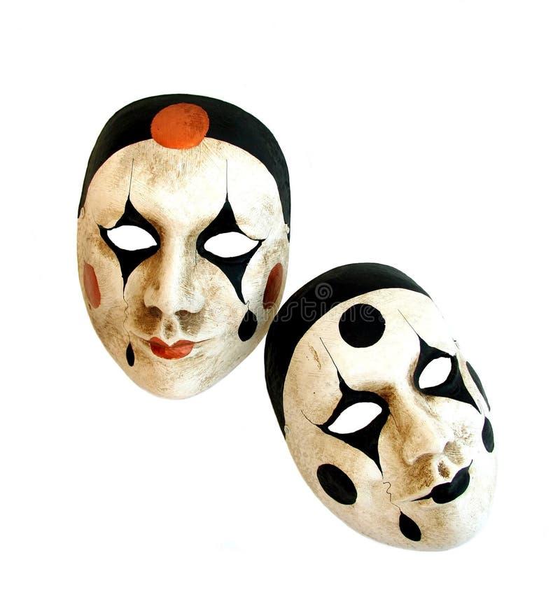 Dos máscaras venecianas del carnaval fotografía de archivo libre de regalías