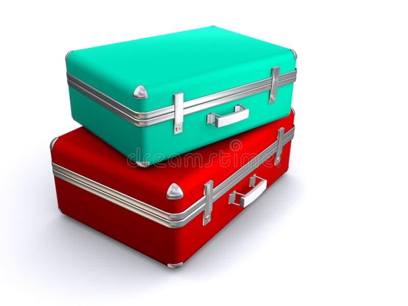 Dos maletas ilustración del vector