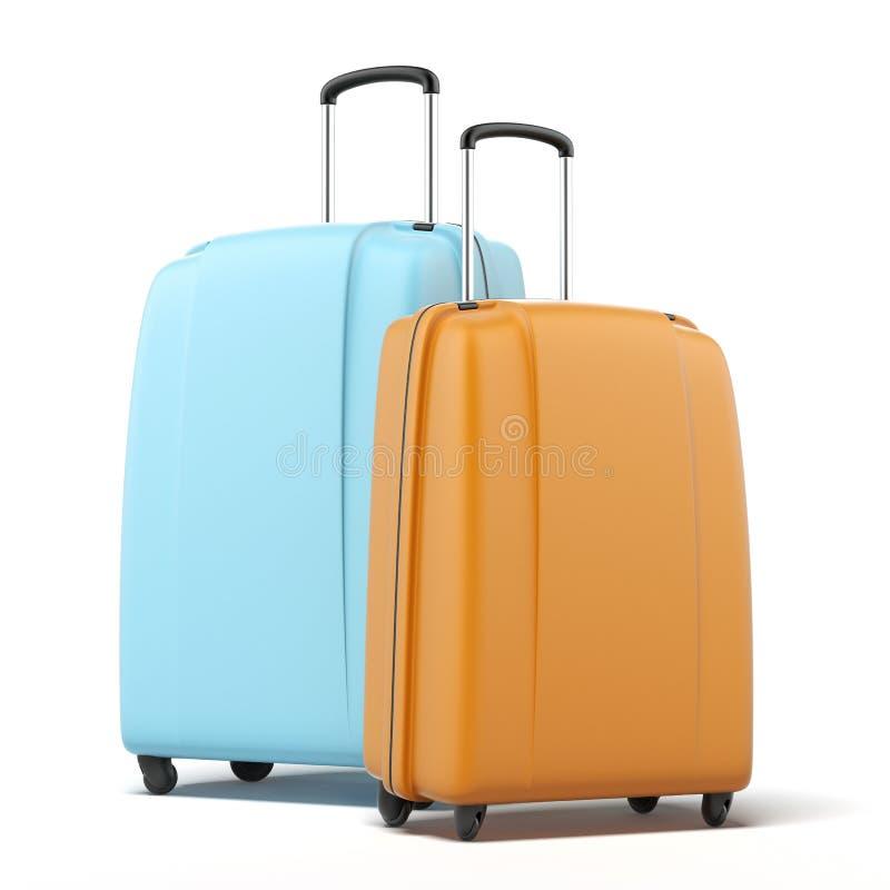 Dos maletas grandes del policarbonato foto de archivo
