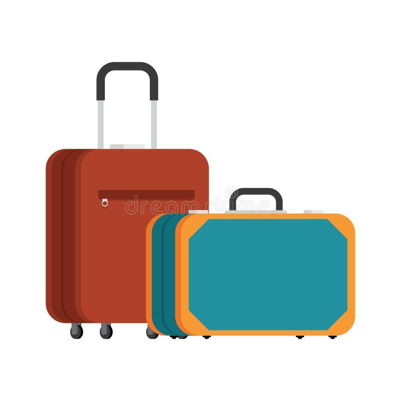 Dos maletas para el viaje stock de ilustración