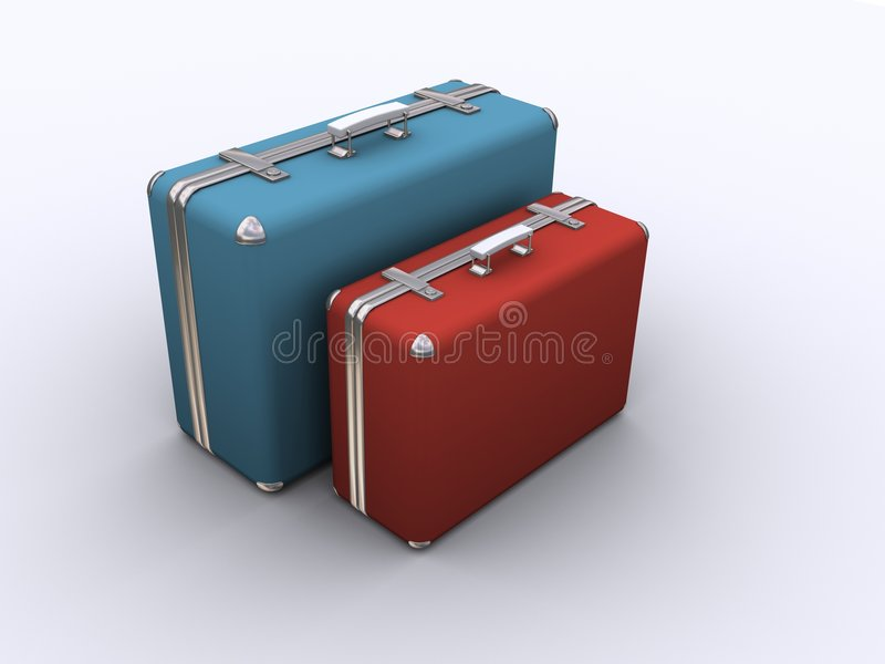 Dos maletas viejas libre illustration