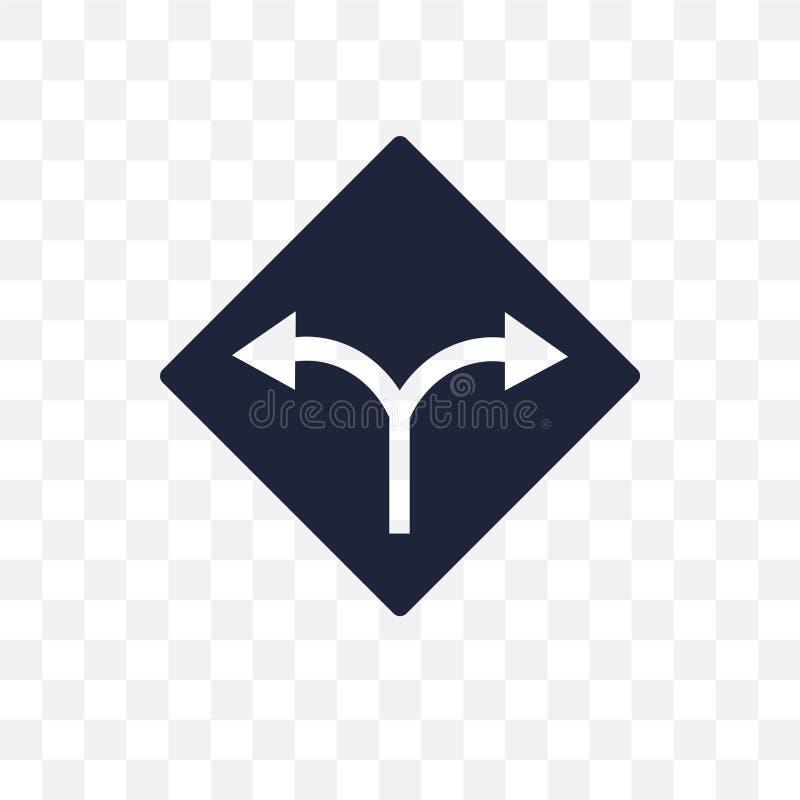 Dos maneras firman el icono transparente Dos maneras firman diseño del símbolo de ilustración del vector