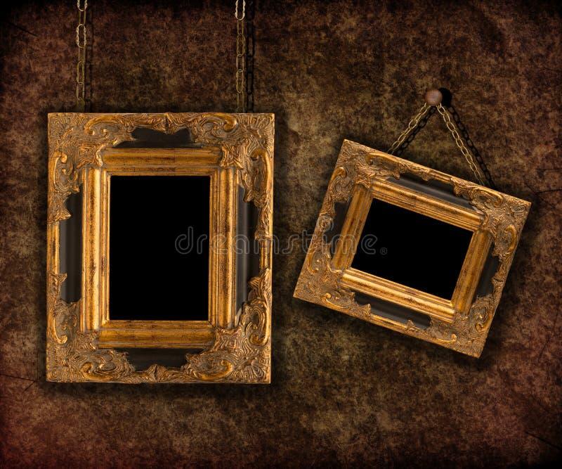 Dos marcos colgantes fotografía de archivo
