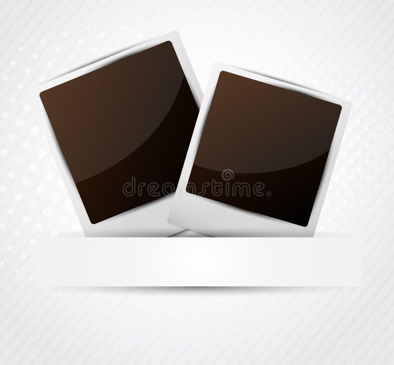 Dos marcos de la foto stock de ilustración