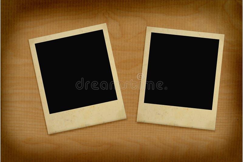 Dos marcos de la foto de la vendimia fotos de archivo