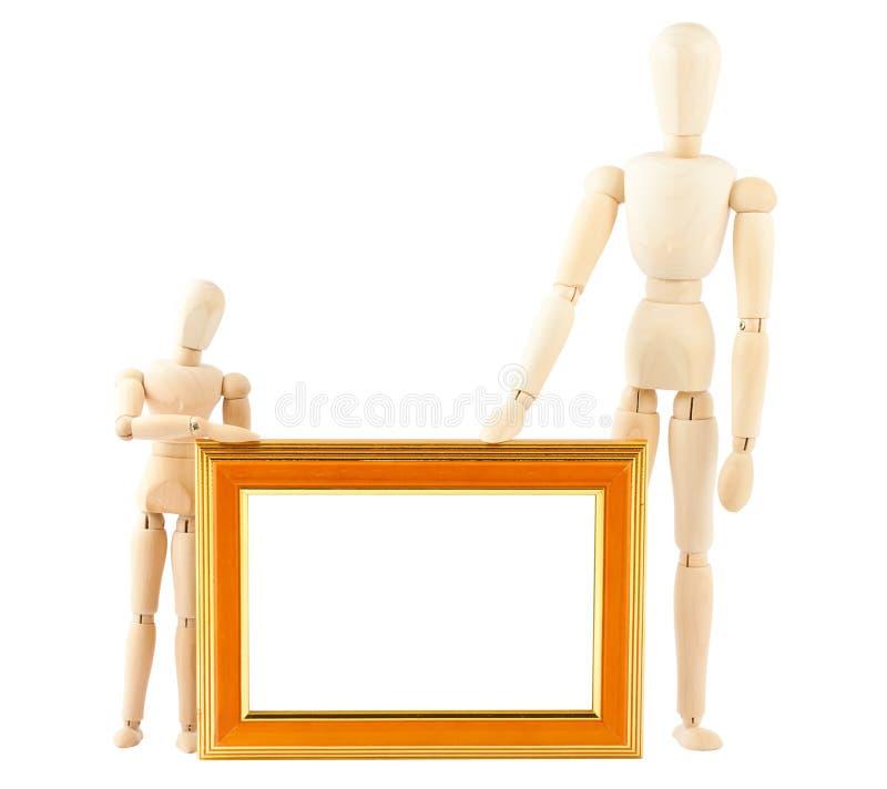Dos marcos simulados y vacíos de madera fotografía de archivo libre de regalías