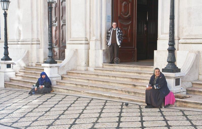 DOS Martires di Porch Basilica de Nossa Senhora. Lisb immagini stock
