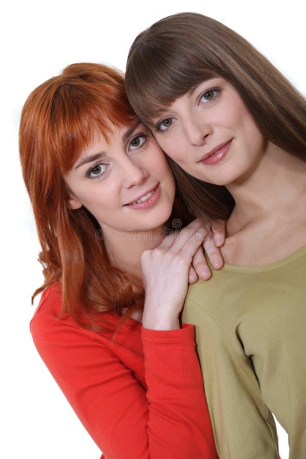 Dos mejores amigos femeninos foto de archivo