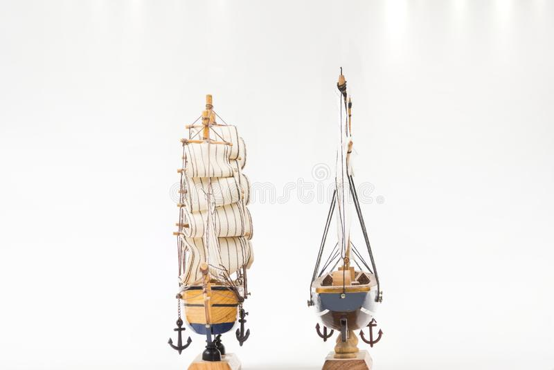 Dos modelos del barco de vela fotografía de archivo libre de regalías