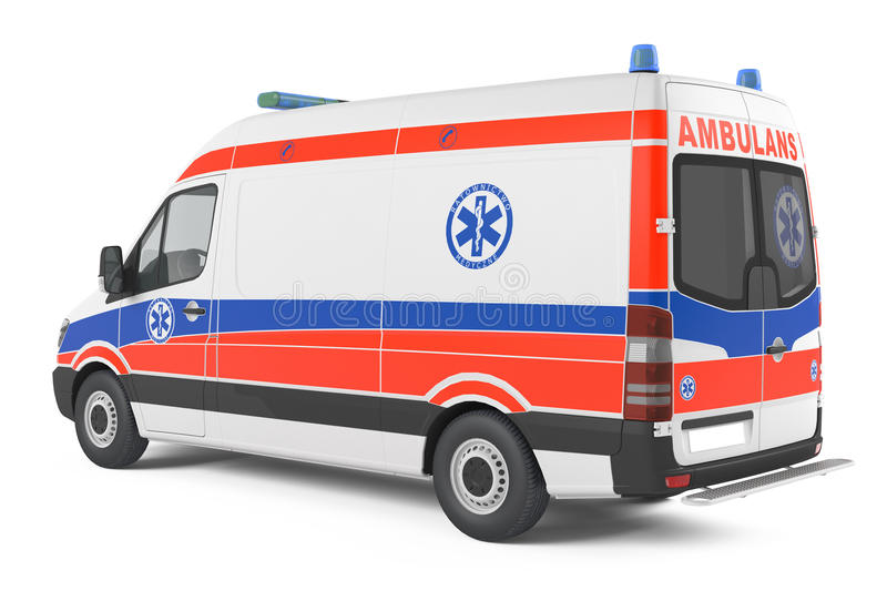 Dos moderne de voiture d'ambulance illustration libre de droits