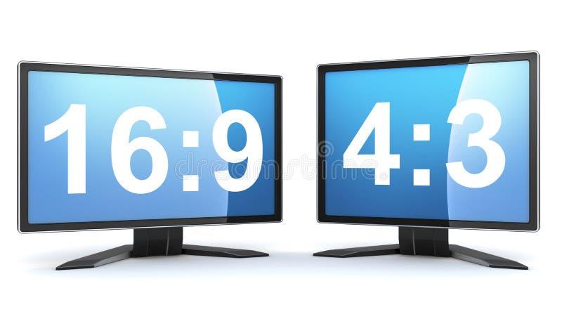Dos monitores stock de ilustración
