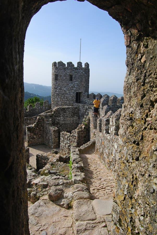 DOS Mouros di Castelo in Sintra immagini stock