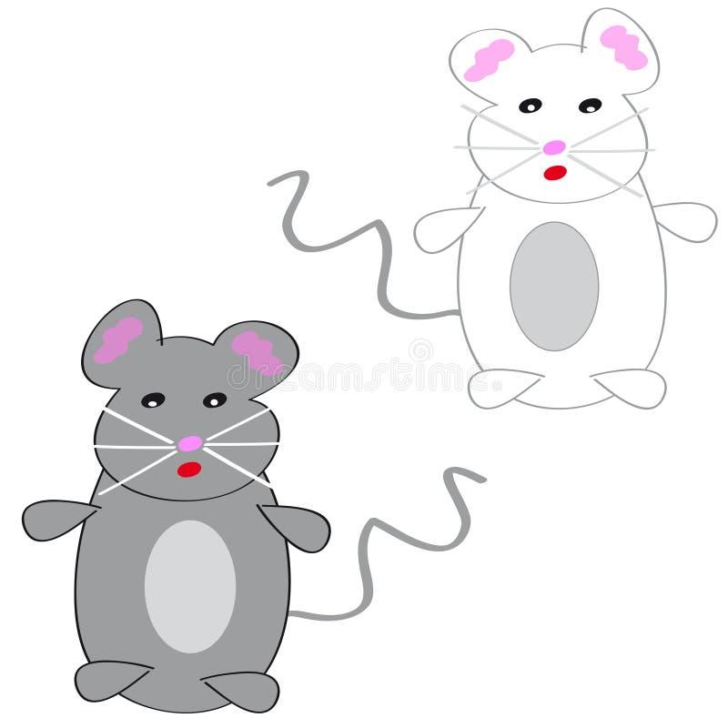 Dos mouses en el fondo blanco libre illustration