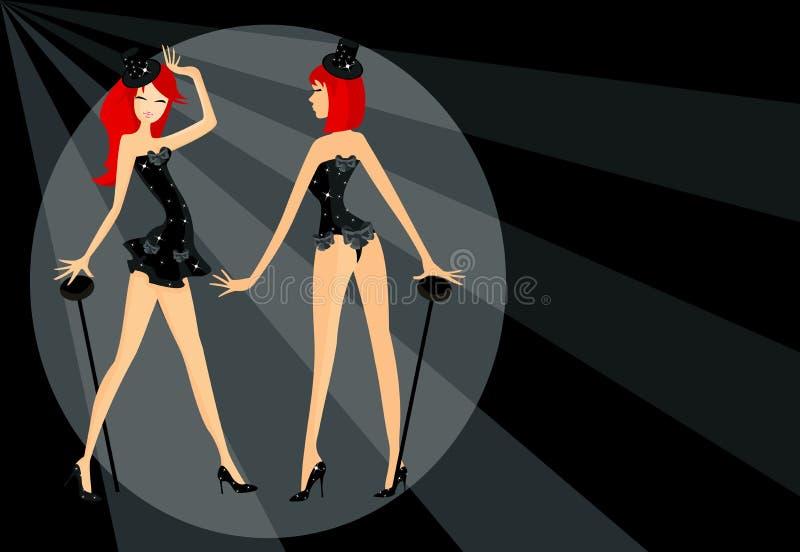 Dos muchachas del cabaret libre illustration