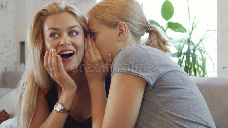 Dos muchachas están chismeando fotografía de archivo libre de regalías