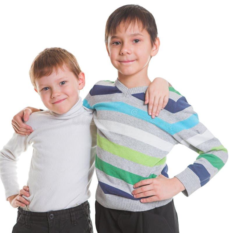 Dos muchachos felices fotos de archivo libres de regalías