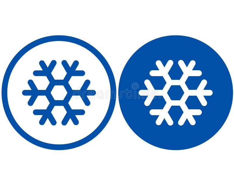 Dos muestras del copo de nieve ilustración del vector