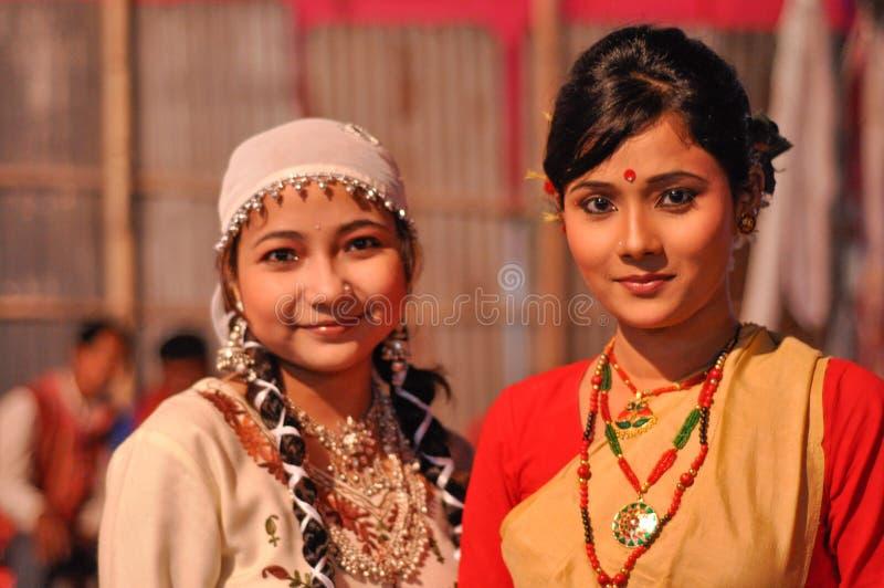 Dos mujeres en Assam imagen de archivo libre de regalías