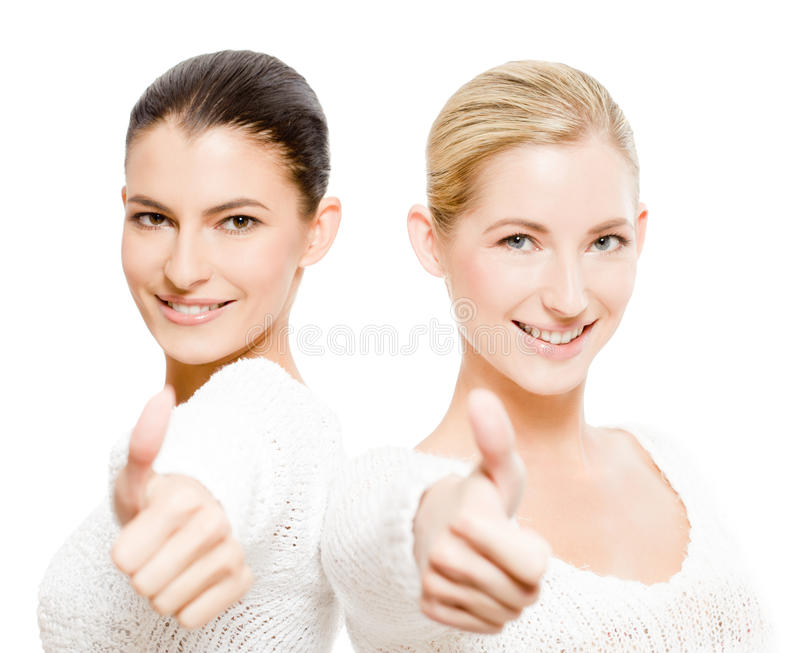 Dos mujeres felices foto de archivo libre de regalías
