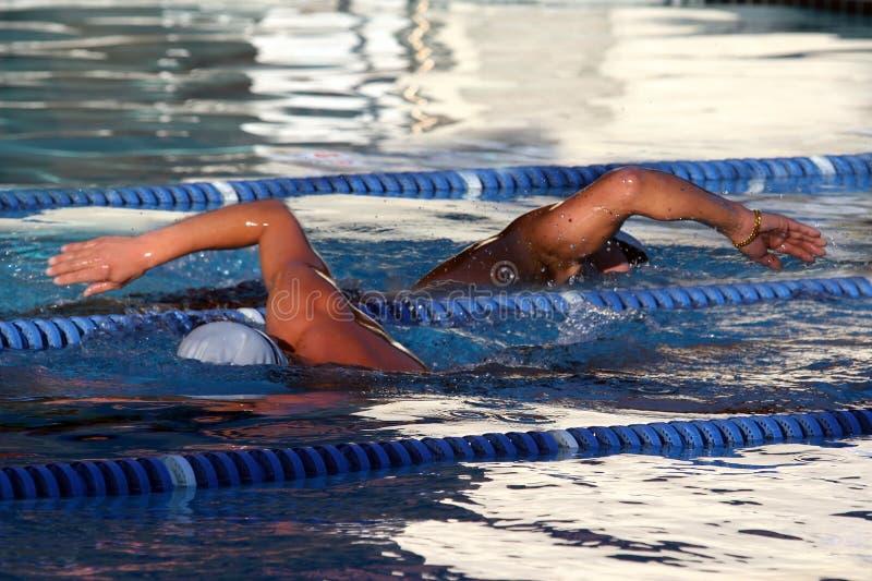 Dos nadadores foto de archivo