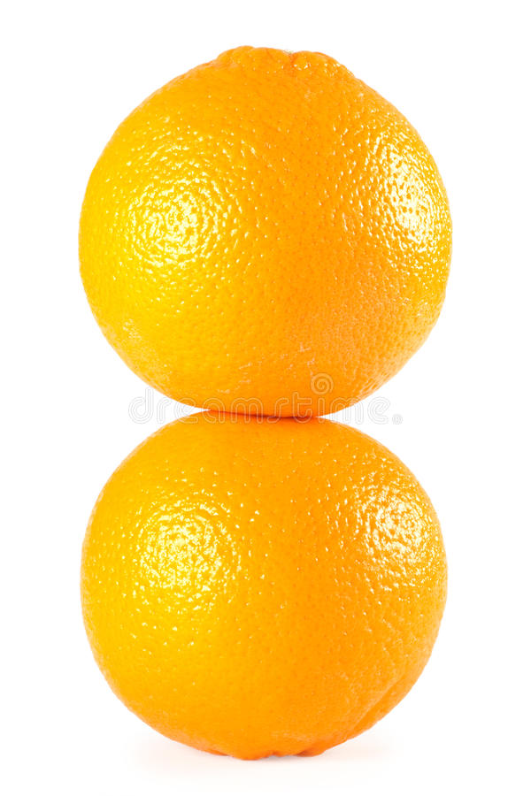Dos naranjas fotos de archivo