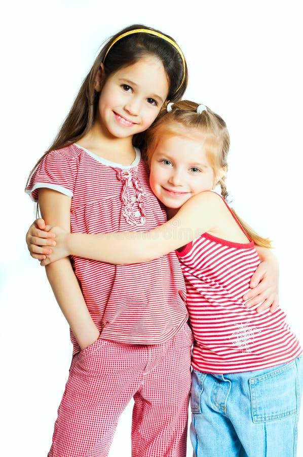 Dos niñas fotografía de archivo