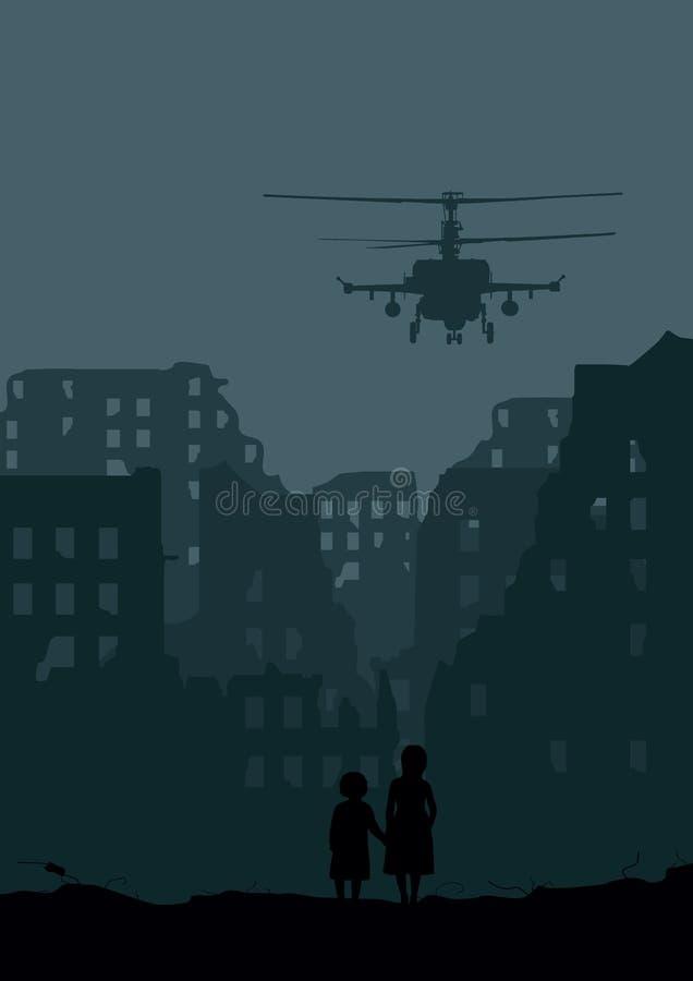 Dos niñas ilustración del vector