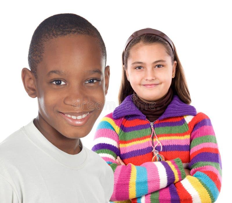 Dos niños foto de archivo libre de regalías