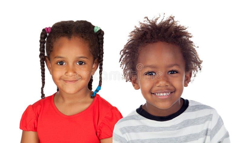 Dos niños africanos adorables fotografía de archivo