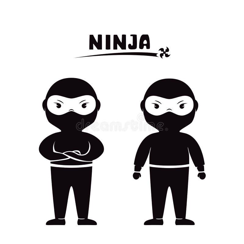 Dos ninjas ilustración del vector