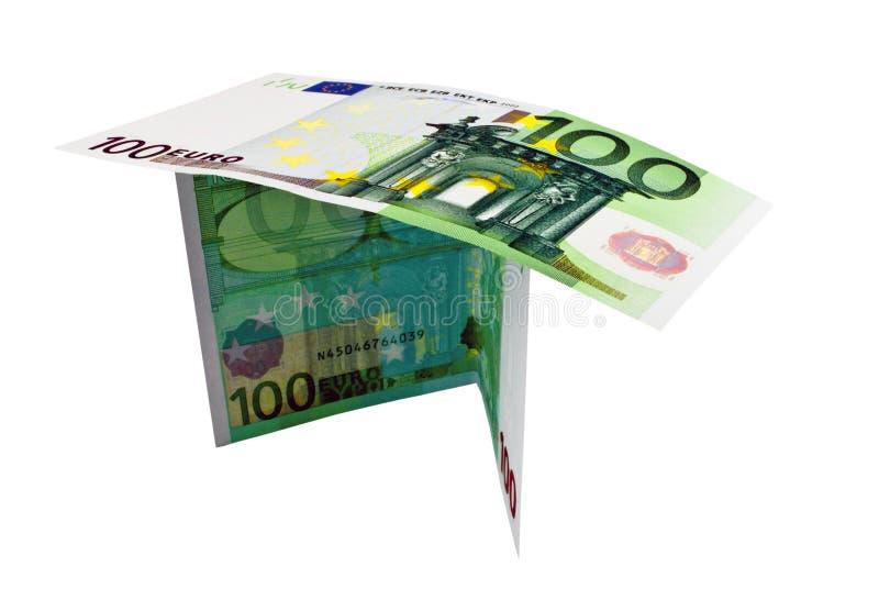 Dos Notas Para Cientos Euros Imagenes de archivo