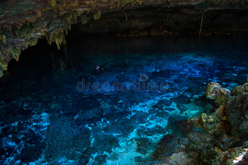 DOS Ojos de Cenote photos libres de droits