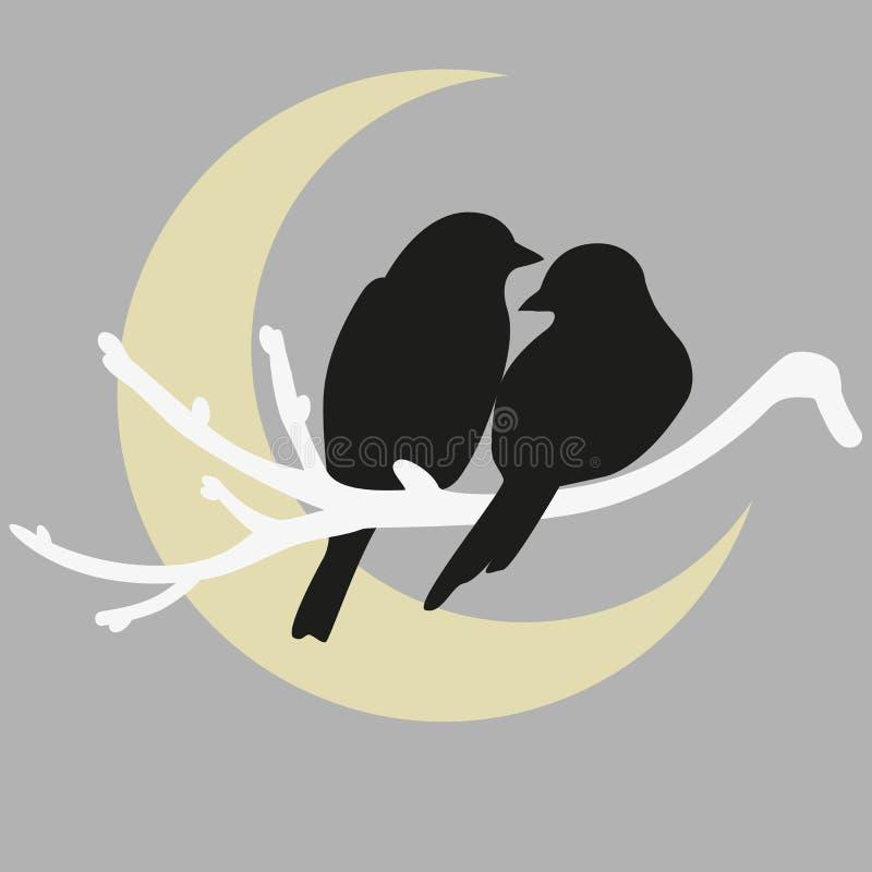Dos pájaros stock de ilustración