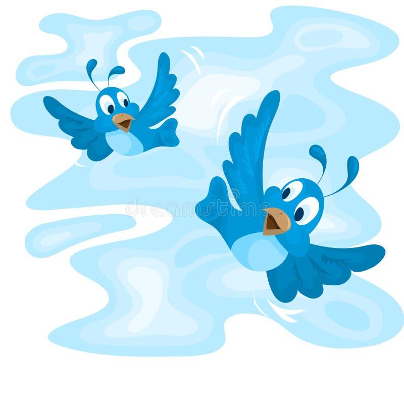 Dos pájaros de vuelo libre illustration