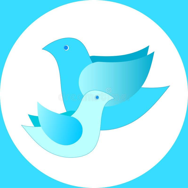Dos pájaros en un círculo libre illustration