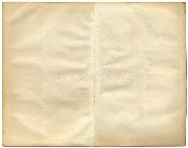Dos paginaciones de la vendimia de un libro viejo. imágenes de archivo libres de regalías