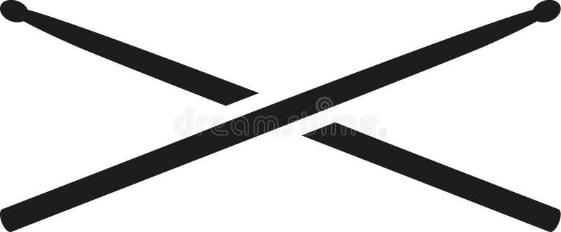 Dos palillos del tambor ilustración del vector