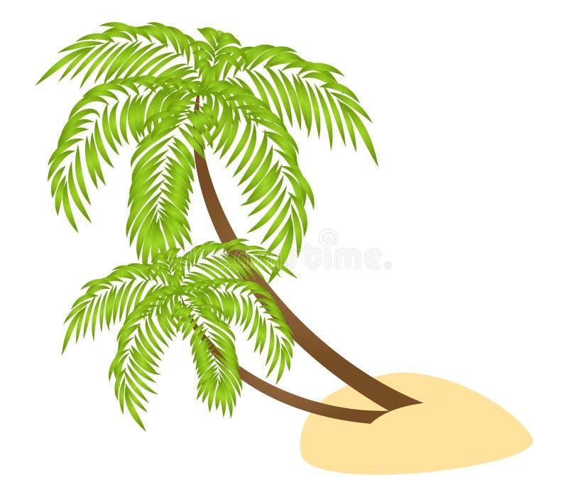 Dos palmas stock de ilustración