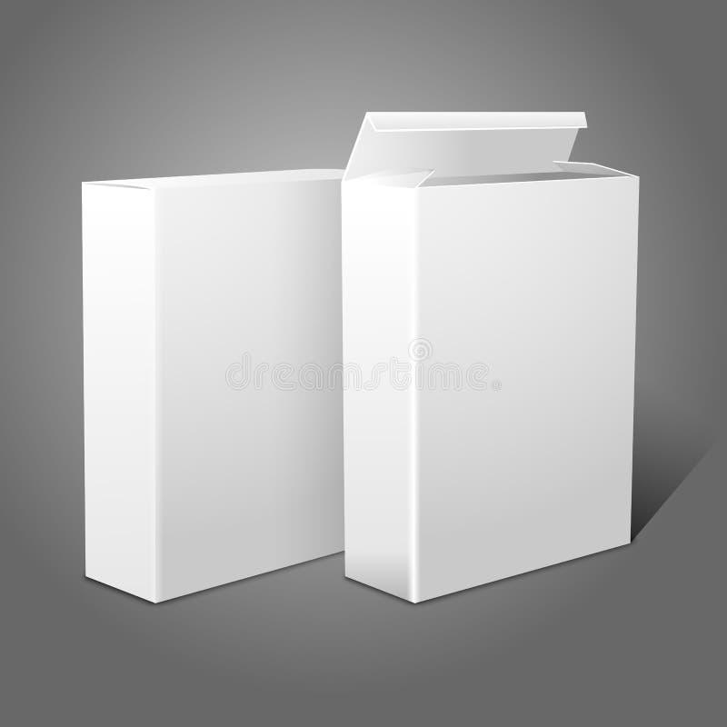 Dos paquetes blancos realistas del papel en blanco para stock de ilustración