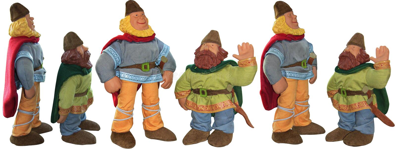 Dos pequeños gnomos de los noruegos - juguetes fotos de archivo