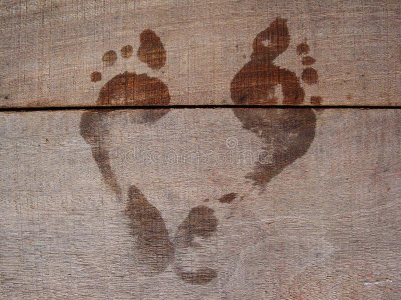 Dos pies románticos fotos de archivo