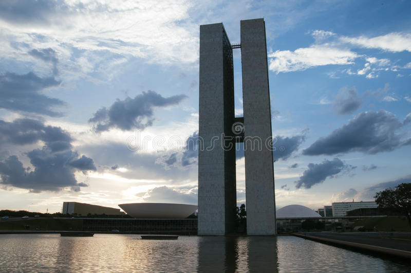DOS Poderes för Palà ¡ cio i Brasilia royaltyfria bilder