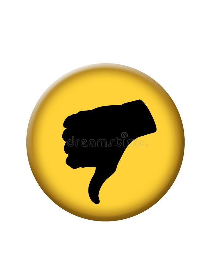Dos polegares tecla do ícone para baixo