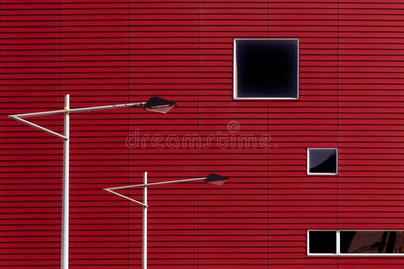 Dos postes de la lámpara en Rotterdam imágenes de archivo libres de regalías