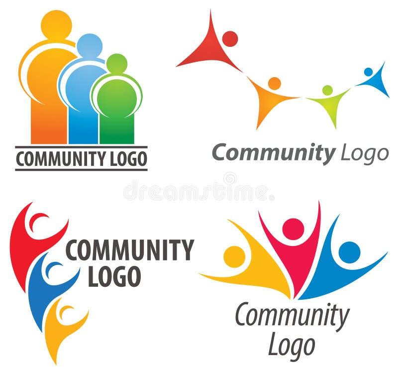 Dos povos logotipo junto ilustração royalty free