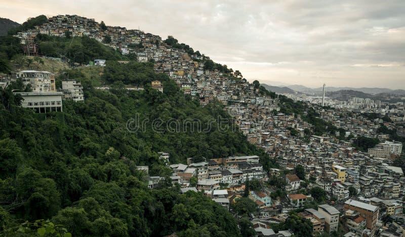 DOS Prazeres στο Ρίο ντε Τζανέιρο, Βραζιλία Morro Favela στοκ εικόνα με δικαίωμα ελεύθερης χρήσης