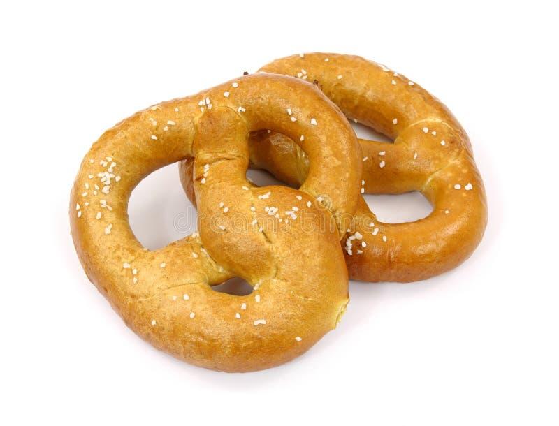 Dos pretzeles suaves foto de archivo libre de regalías