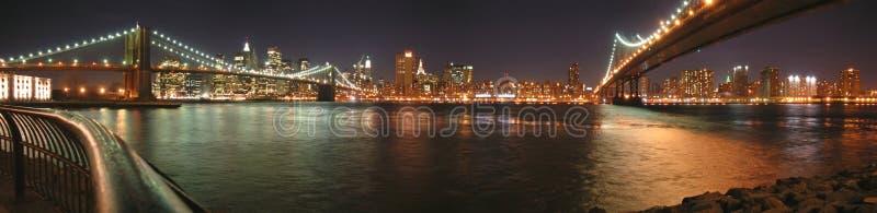 Dos puentes con Brooklyn fotos de archivo