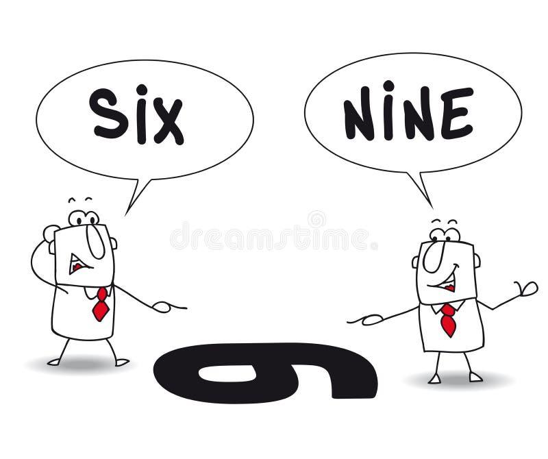 Dos puntos de vista stock de ilustración